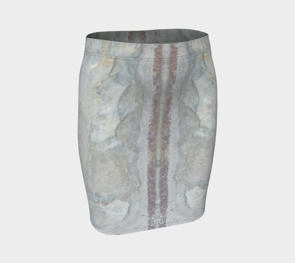 Stone Texture Mini Skirt 3D preview