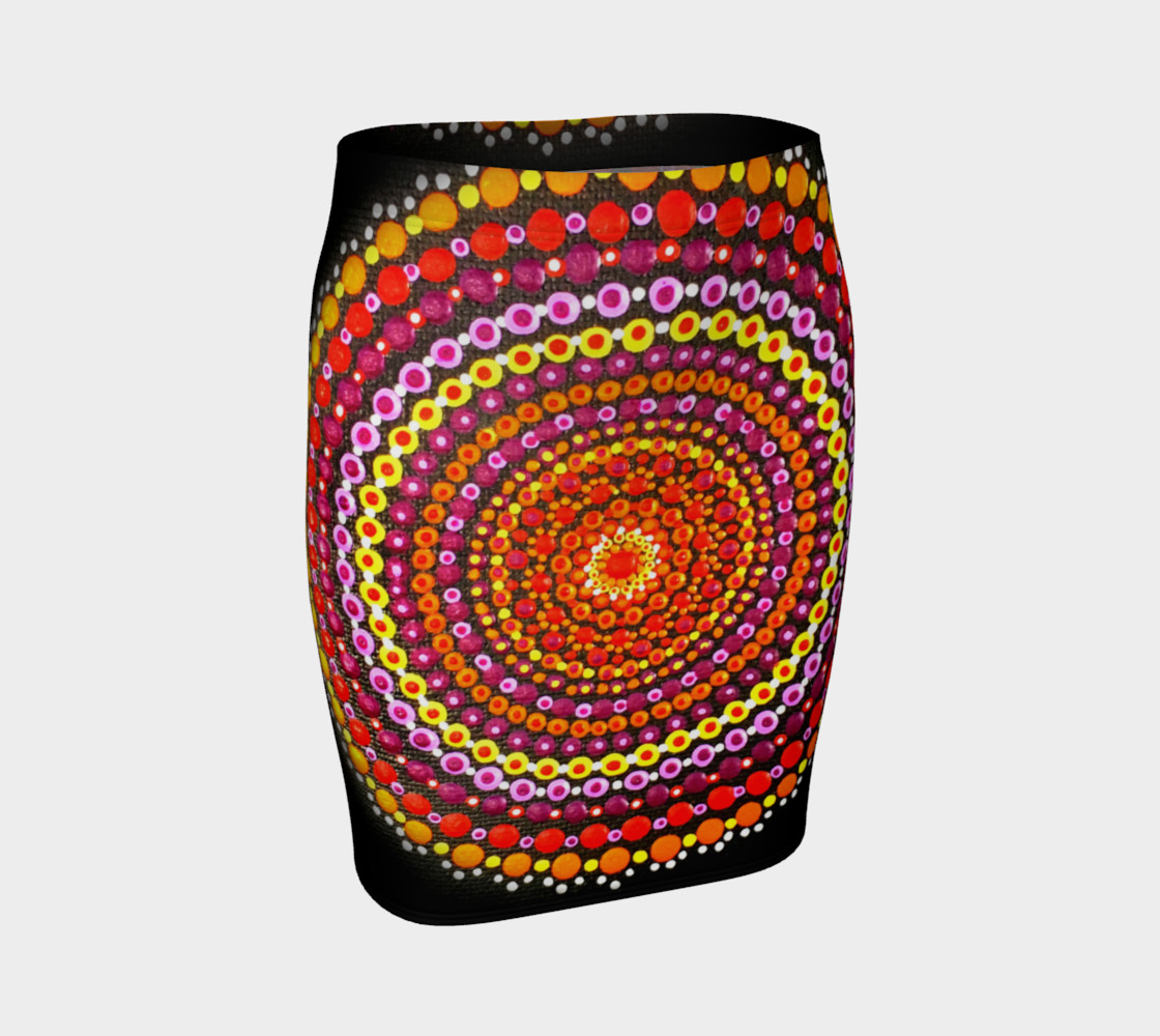 Dotty Mandala Fitted Skirt preview #1