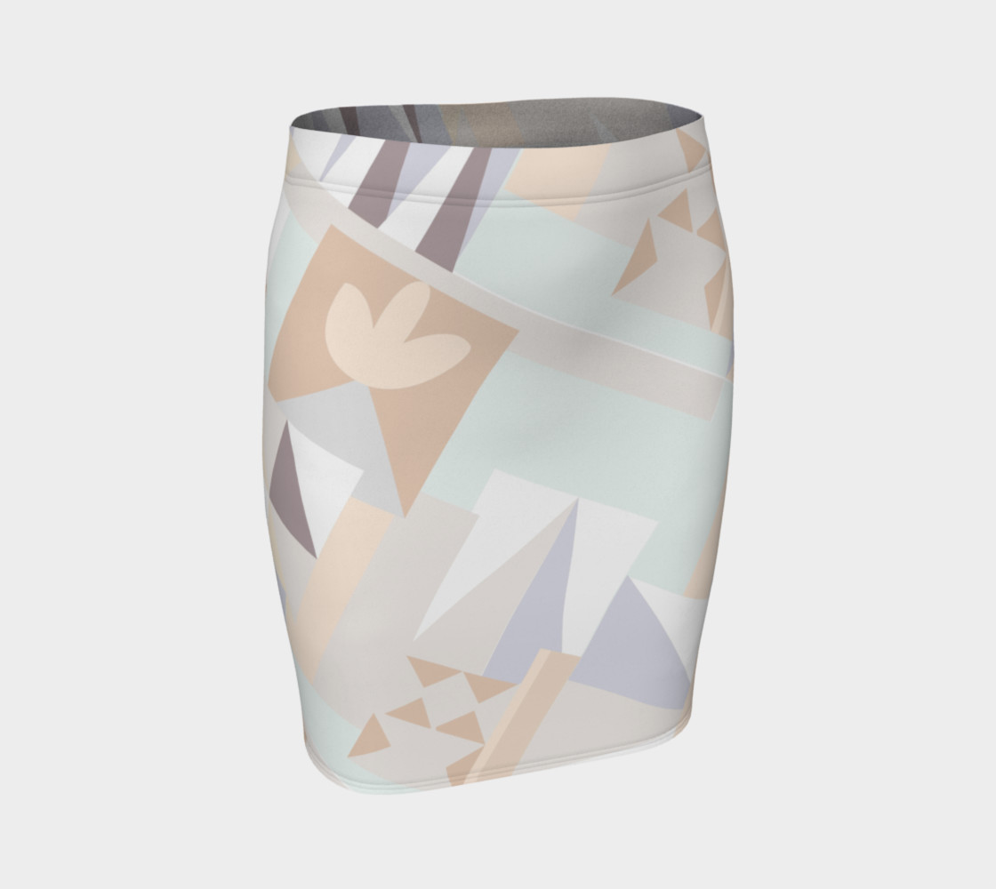 White Crystal Pattern Skirt preview #1