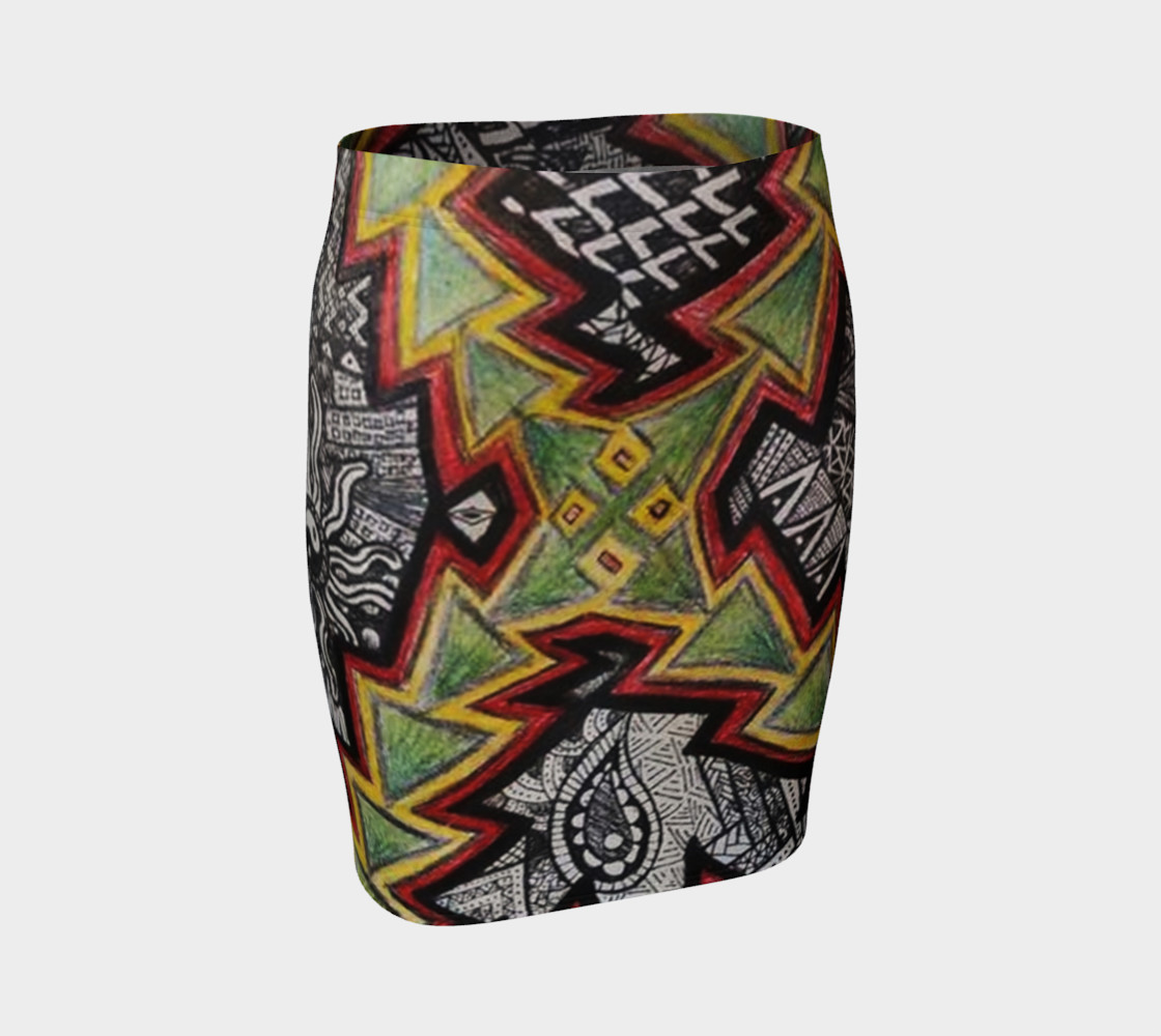 Shaunteya Shock Fitted Skirt preview #1