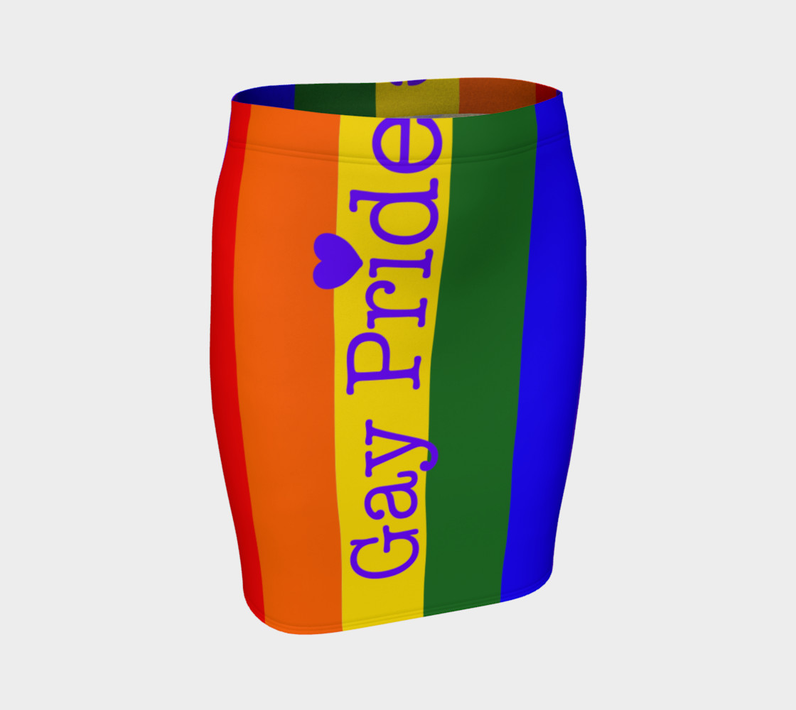 Gay Pride Love Fitted Skirt preview #1