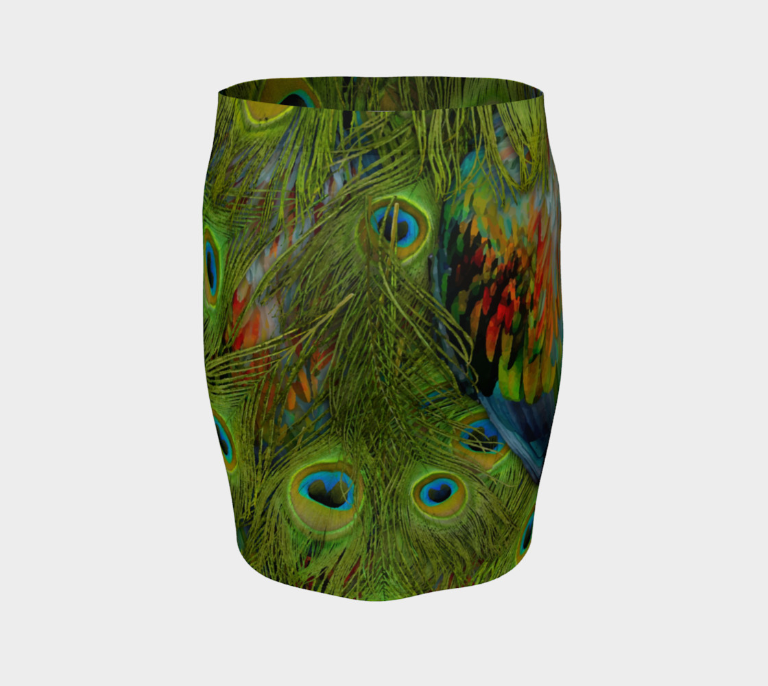 Nicobar-Peacock Fantasy Fitted Skirt thumbnail #5