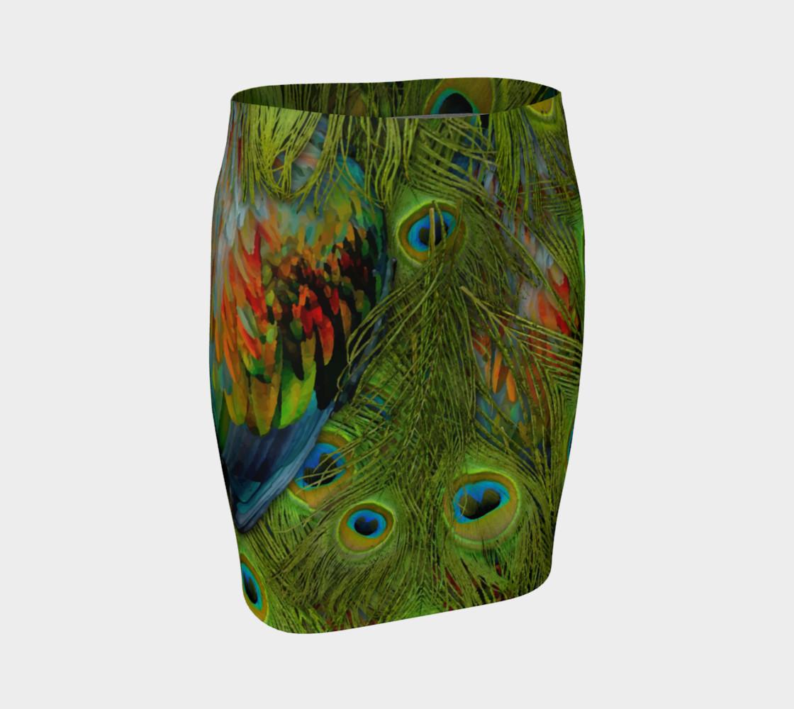 Aperçu de Nicobar-Peacock Fantasy Fitted Skirt #1