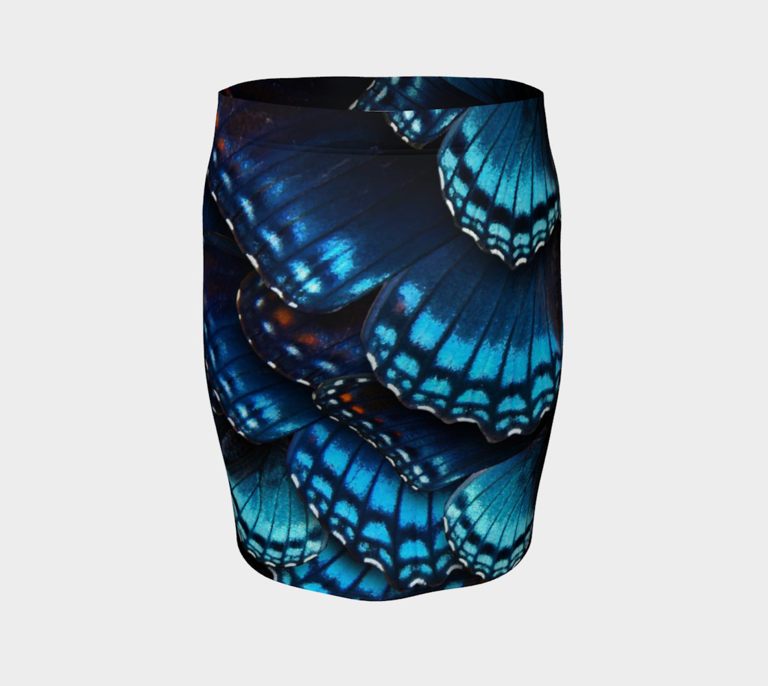 Mondo Blue Butterfly Fitted Skirt preview #4