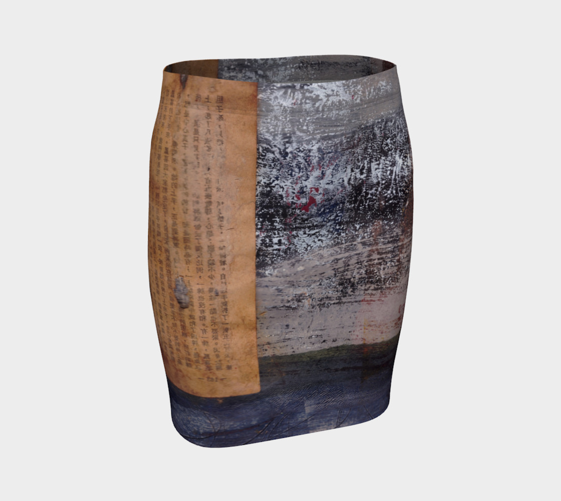 Ancient text fitted skirt preview #1
