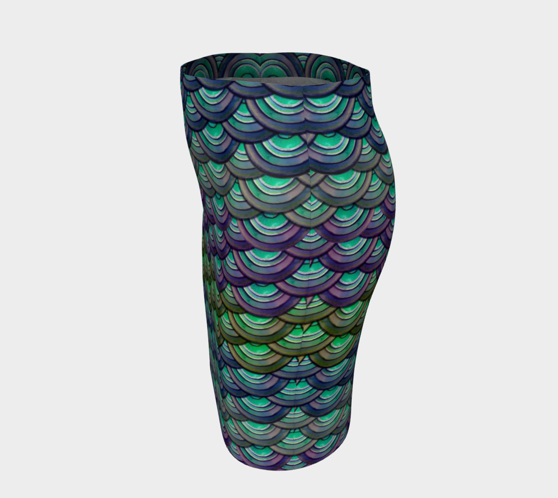 Handpainted Cut Paper Dragon Mermaid Scale Tight Skirt preview #2
