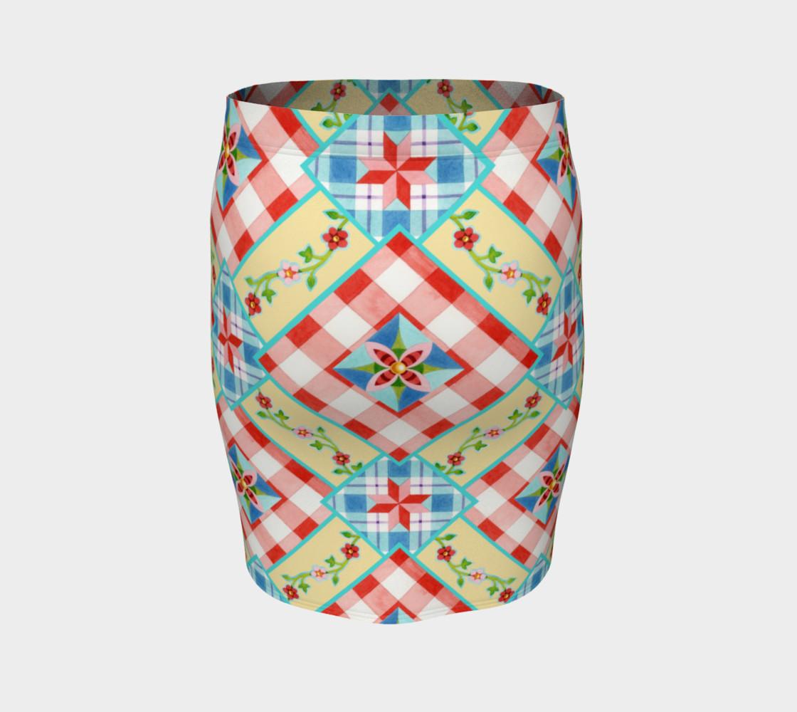 Aperçu de Homespun Gingham Skirt by Patricia Shea Designs #4