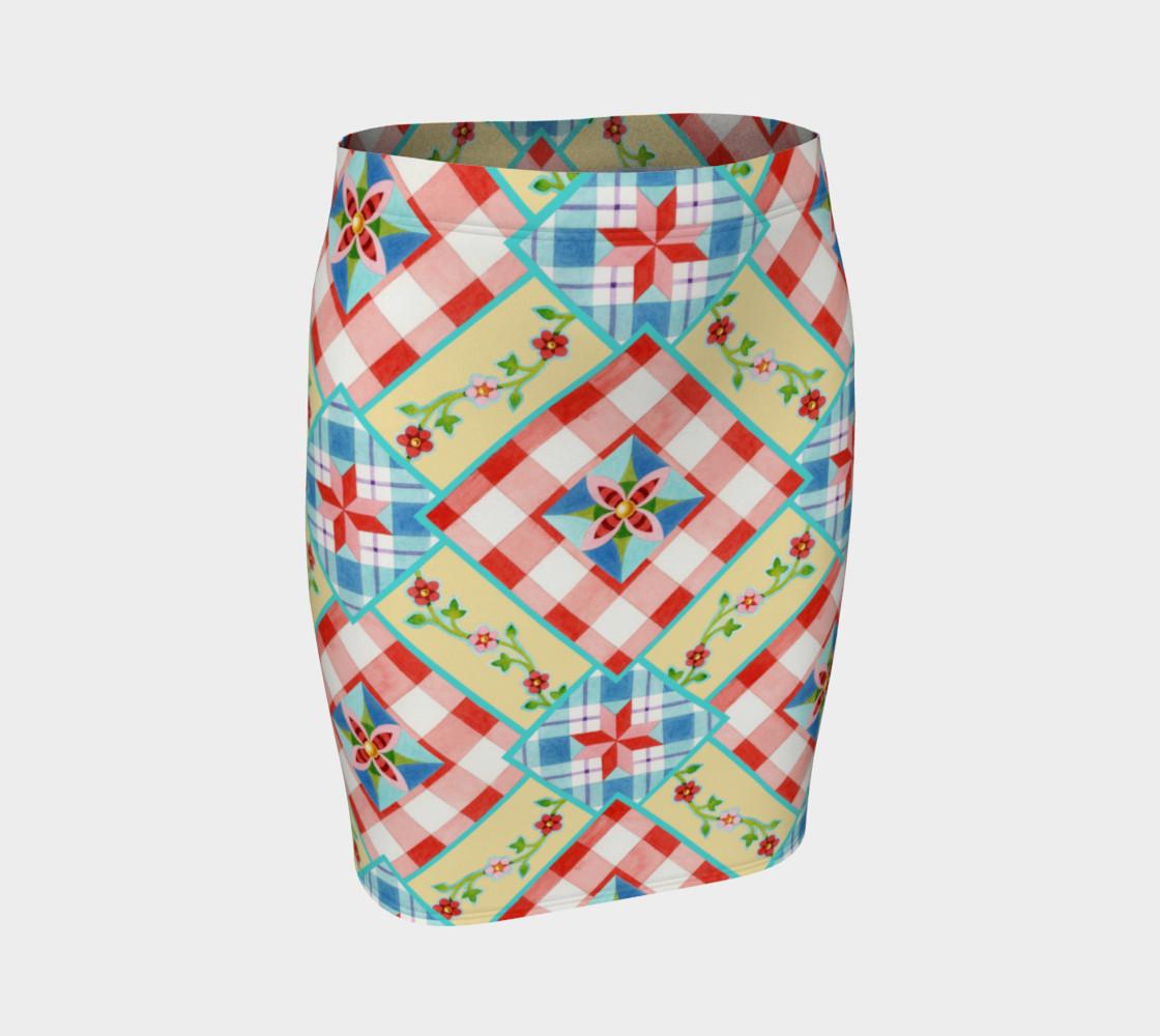 Aperçu de Homespun Gingham Skirt by Patricia Shea Designs #1