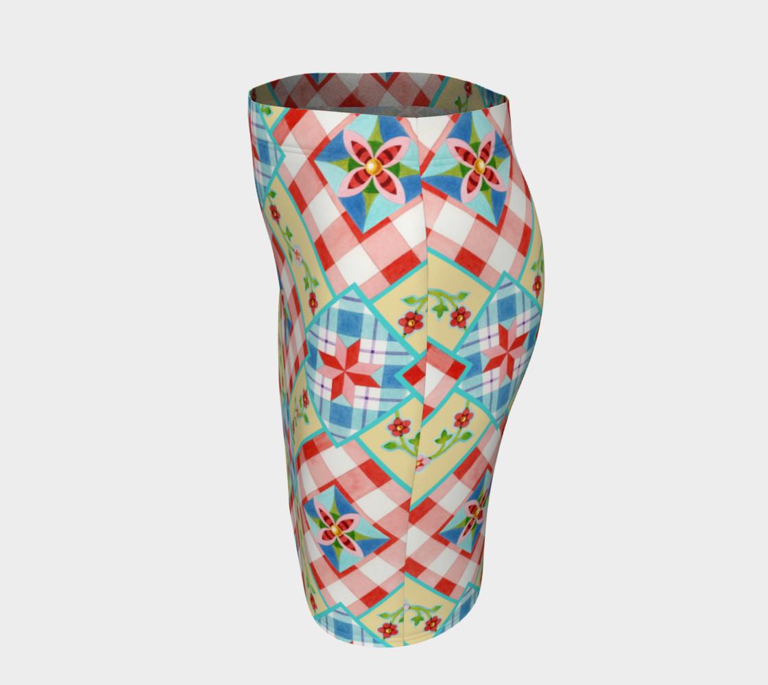 Aperçu de Homespun Gingham Skirt by Patricia Shea Designs #2
