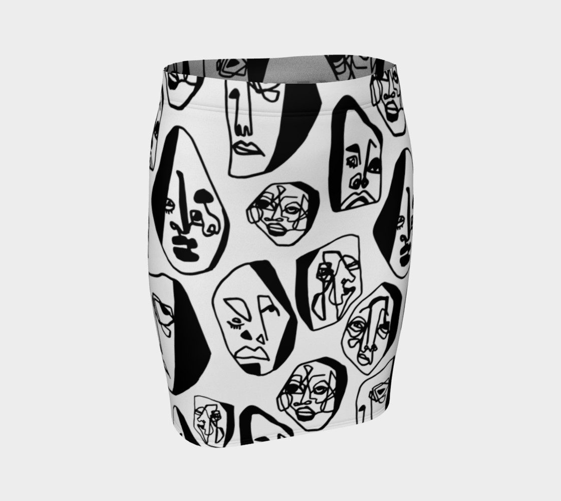 7 FACES OF CURSE SKIRT WHITE preview #1