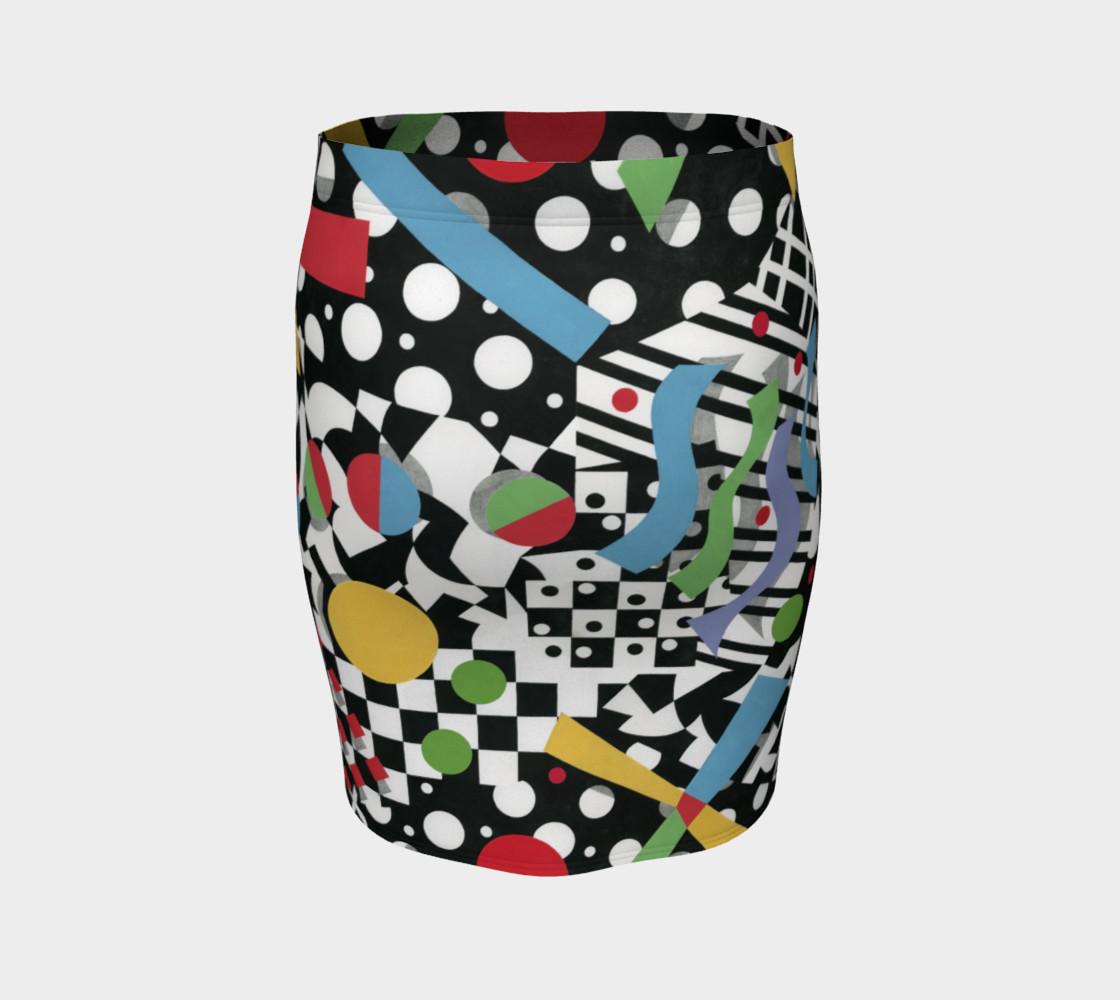 Ticker Tape Spandex Skirt preview #4