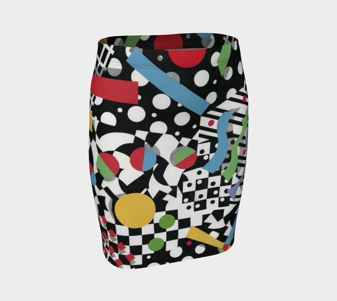 Ticker Tape Spandex Skirt preview #1
