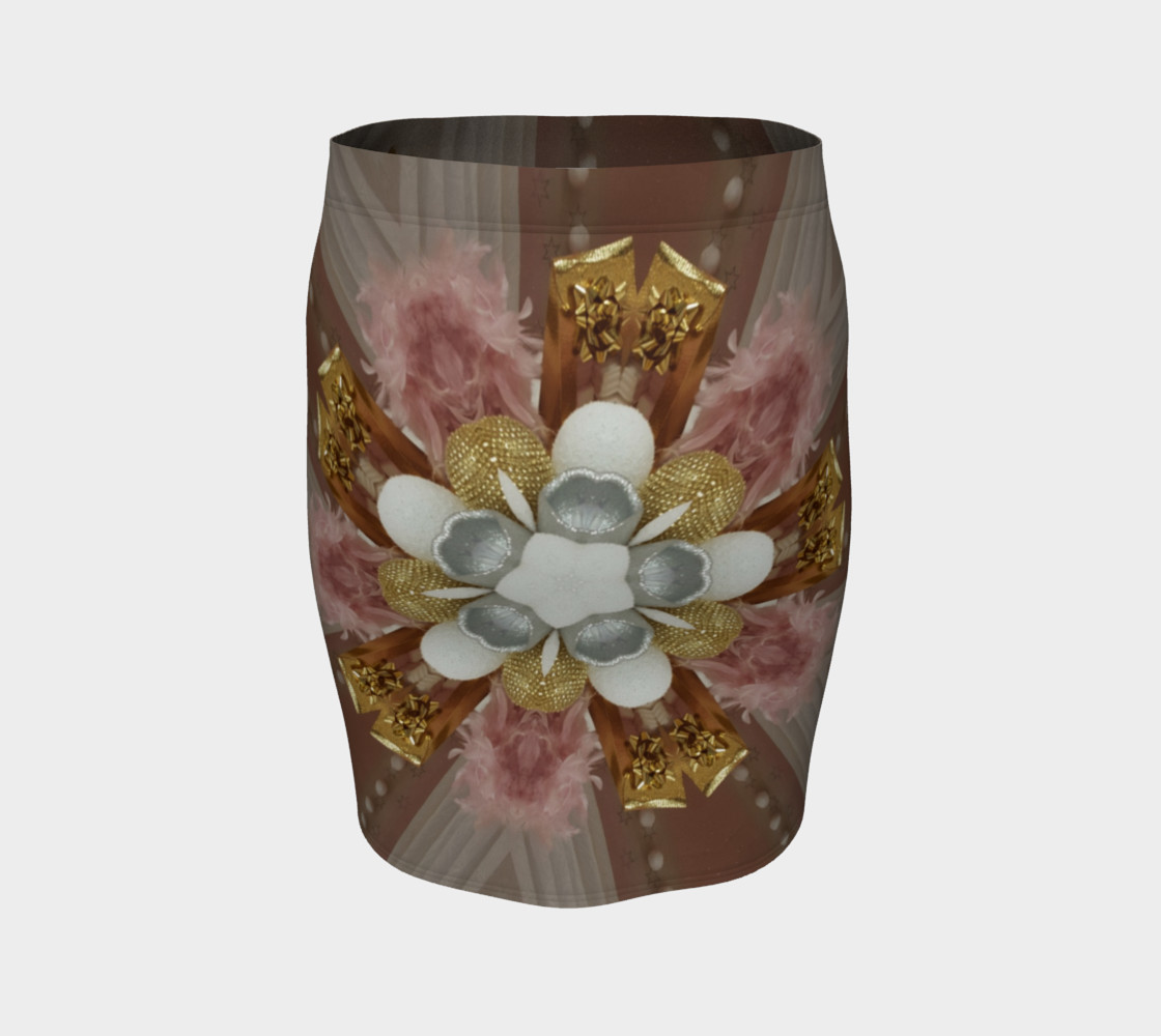 Elegant Antique Pink Shiny Gold Silver White Flower preview #4