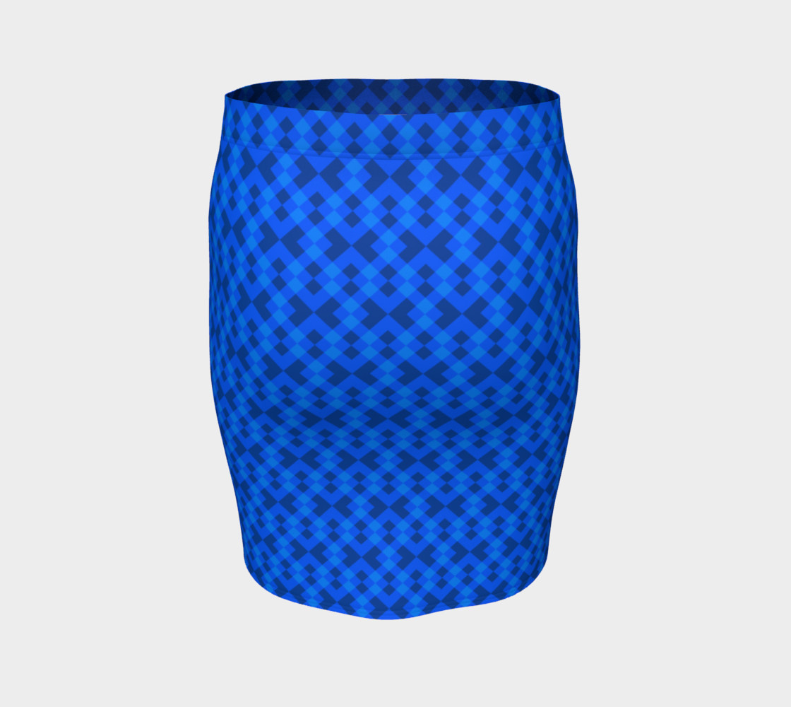 Hypnotic blue pattern preview #4