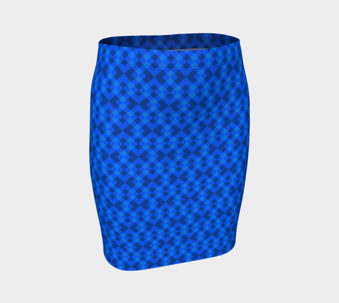 Hypnotic blue pattern preview #1