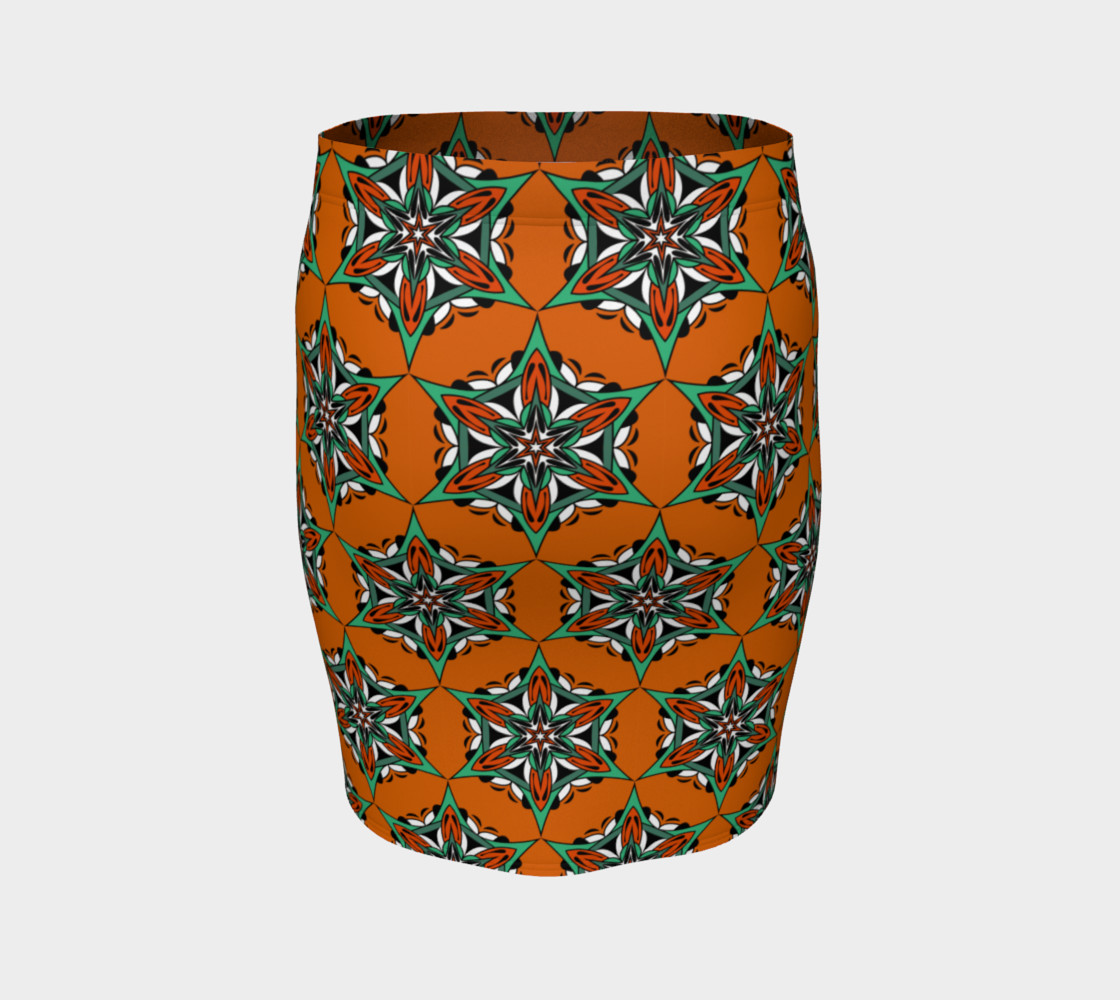 Aperçu de Mandala Starflower Bloom Fitted Skirt #4