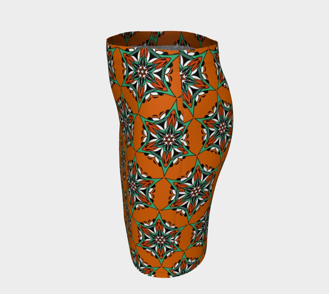Aperçu de Mandala Starflower Bloom Fitted Skirt #2