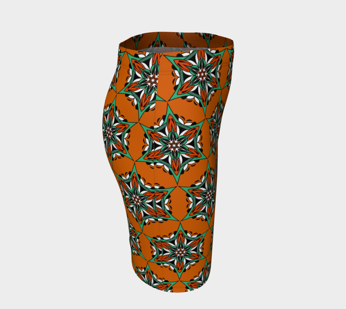 Aperçu de Mandala Starflower Bloom Fitted Skirt #3