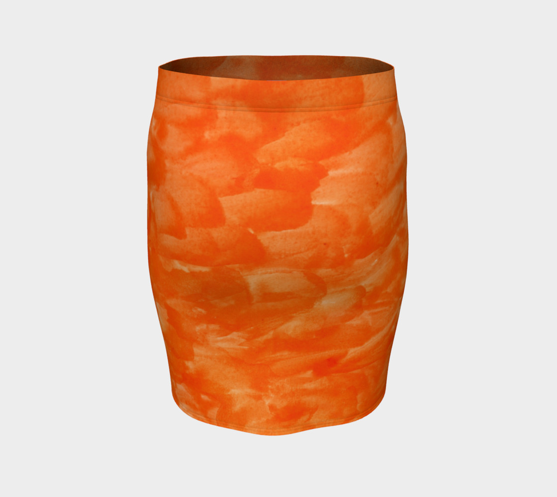 Orange Explosion Fitted Skirt preview #4