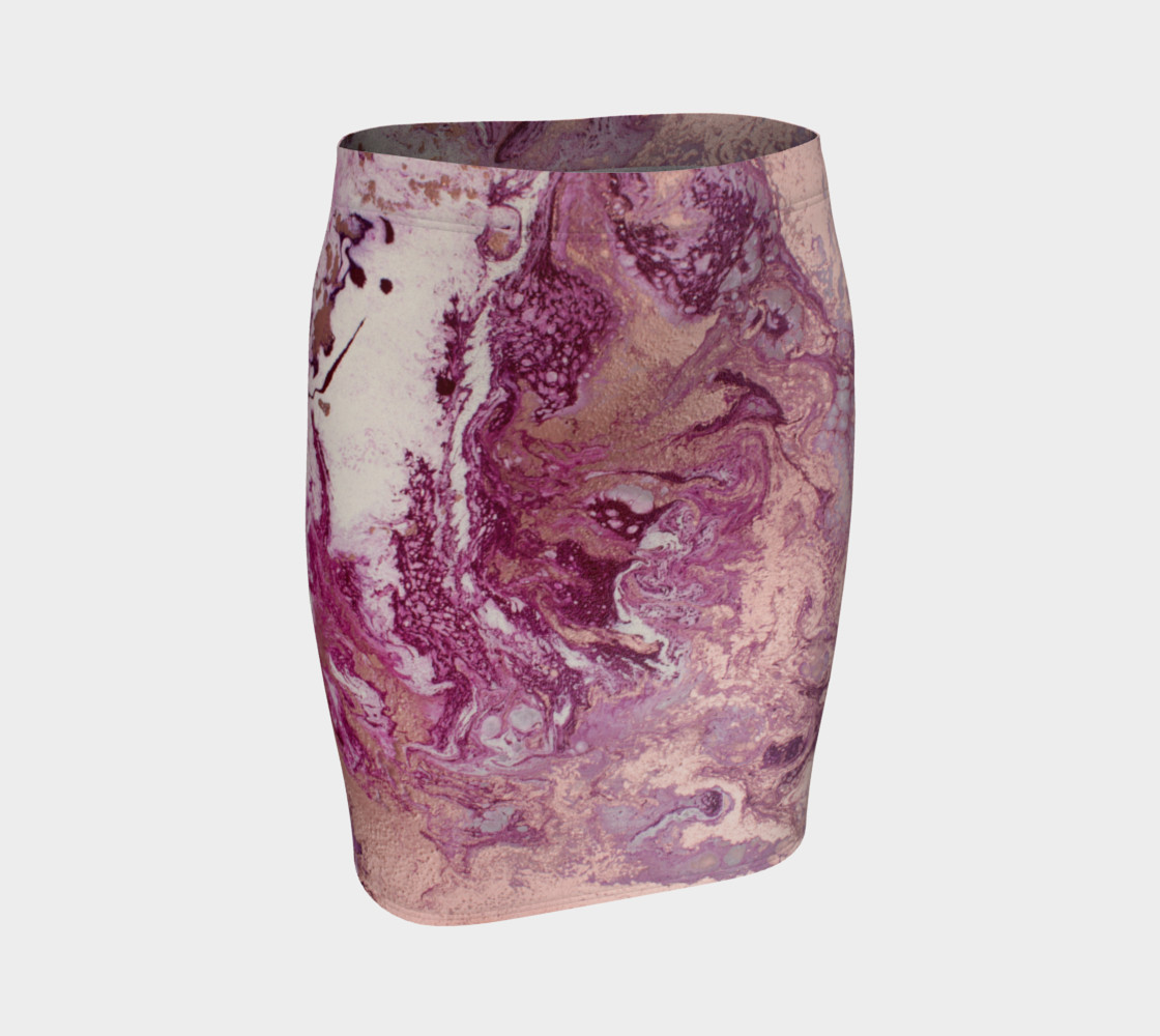 Purple Copper Majesty Fitted Skirt preview #1