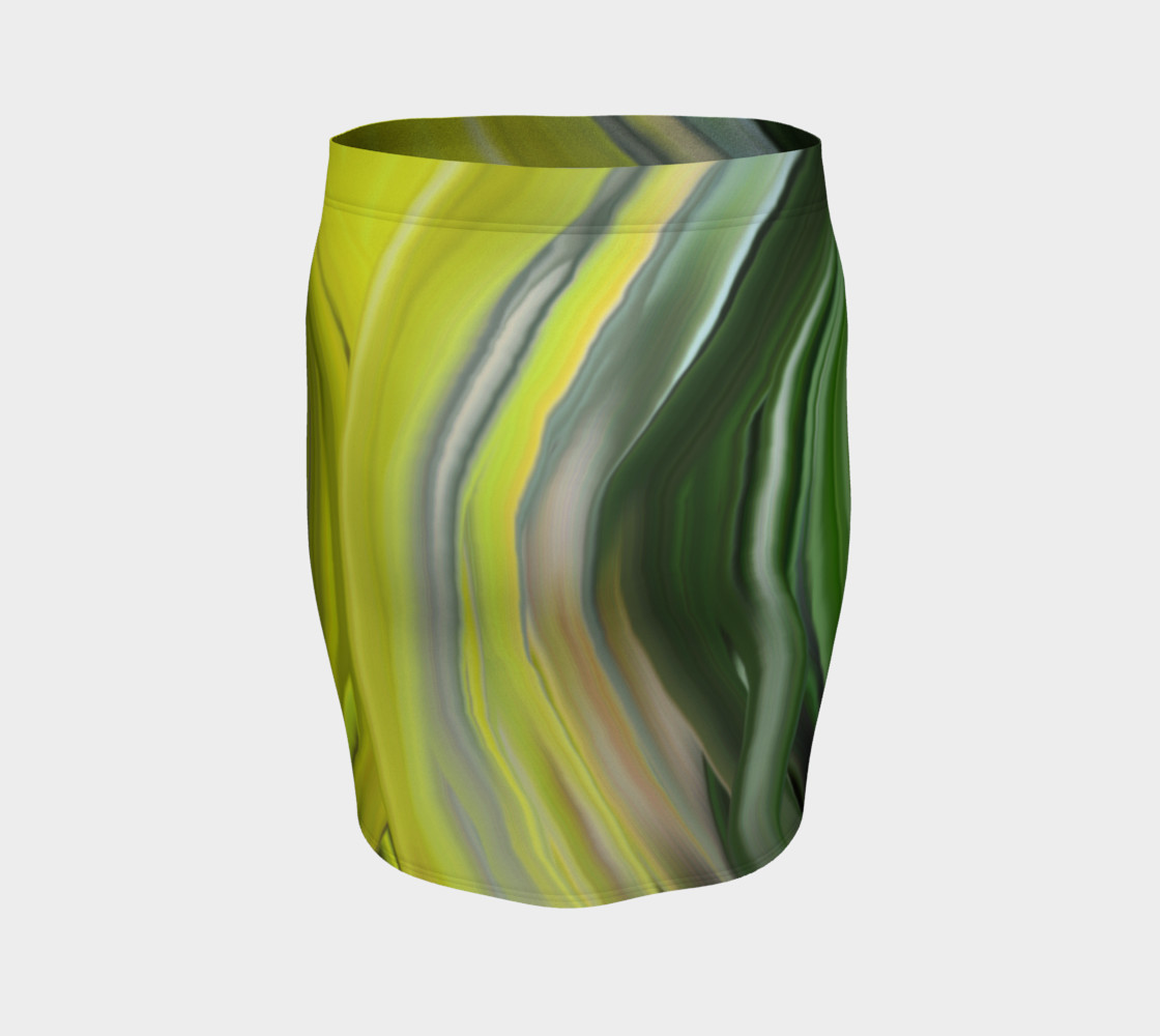 chakra_green fitted skirt preview #4