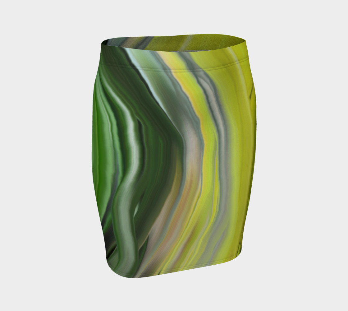 chakra_green fitted skirt preview #1