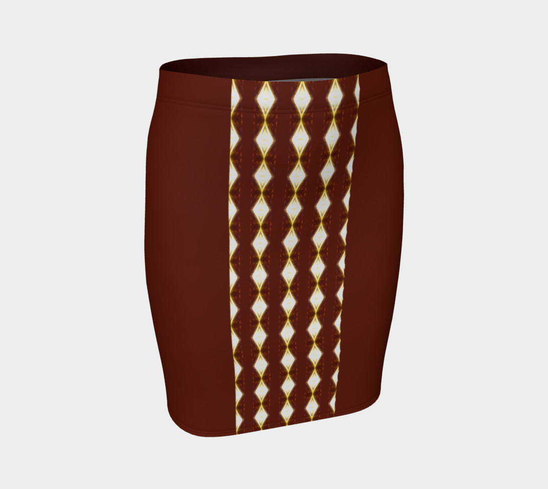 African Cream Diamond Stripe Mini Skirt 3D preview