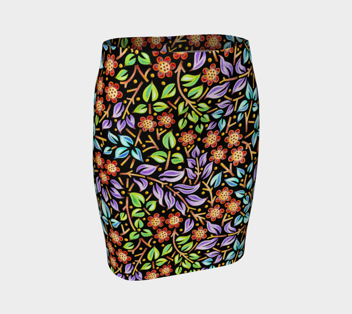 Filigree Floral Fitted Skirt preview #1