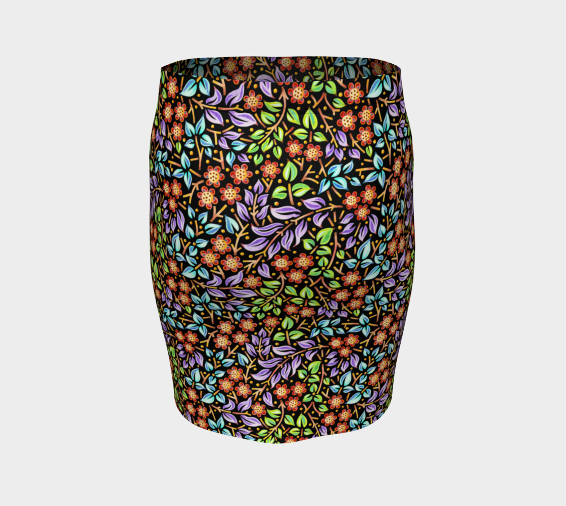 Filigree Floral Fitted Skirt (smaller print) preview #4