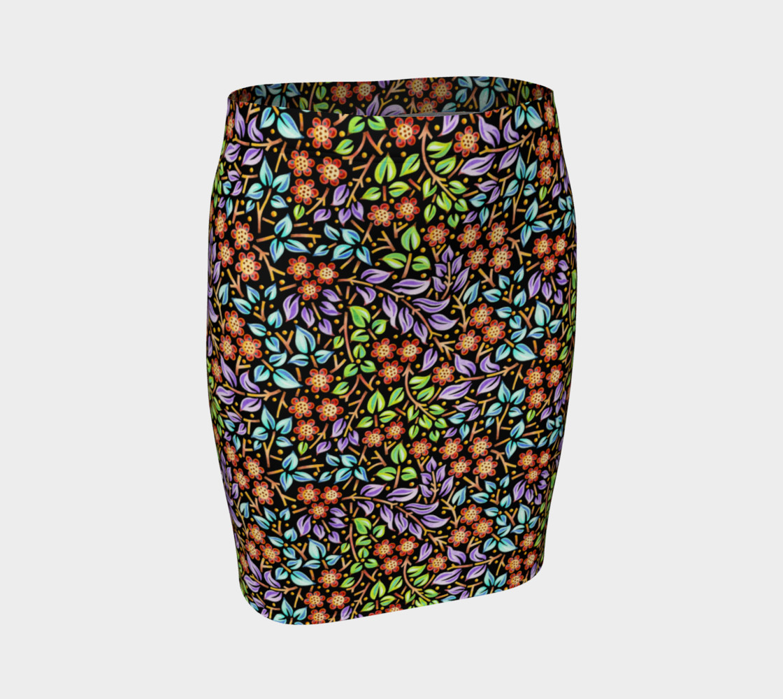 Filigree Floral Fitted Skirt (smaller print) preview #1
