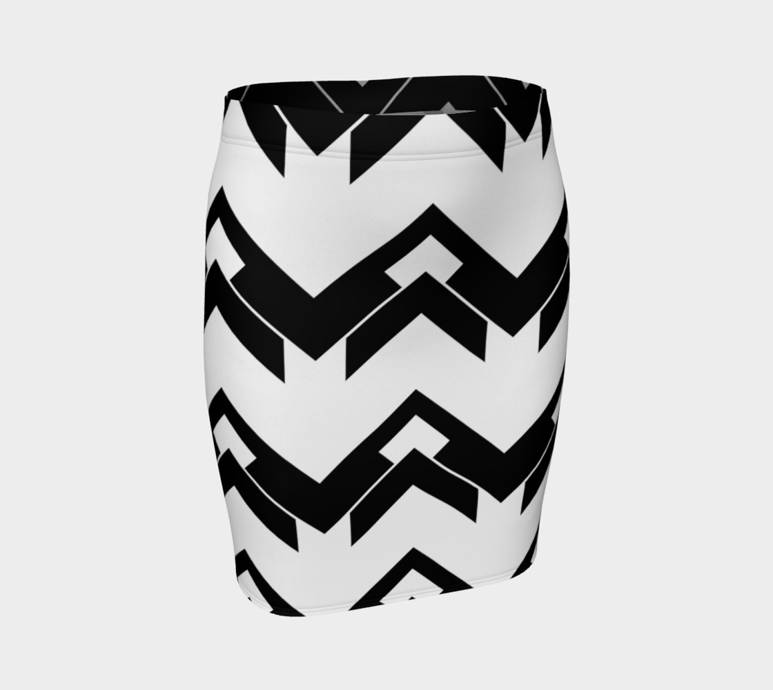 Chevron black and white 3D preview