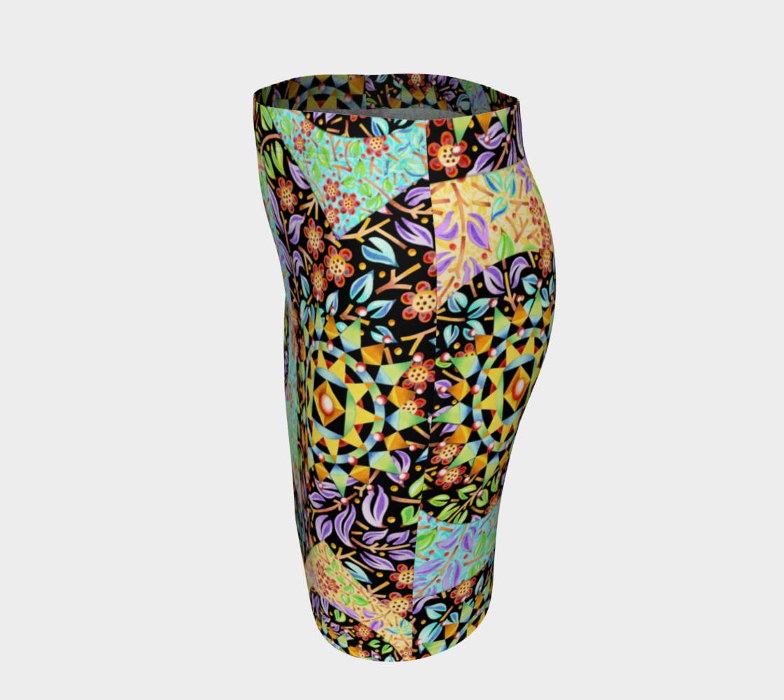 Aperçu de Filgree Floral Patchwork Fitted Skirt #2