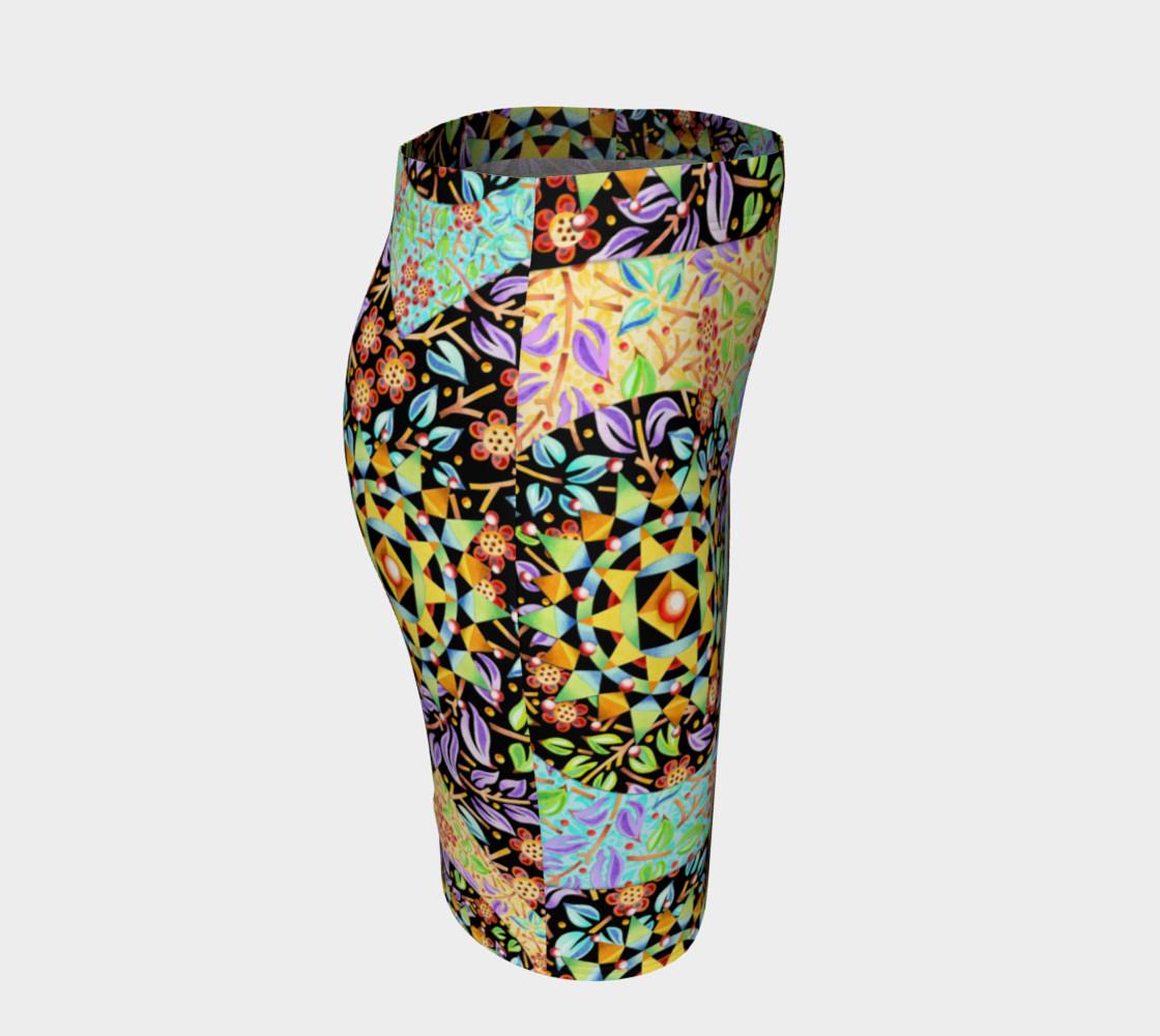 Aperçu de Filgree Floral Patchwork Fitted Skirt #3
