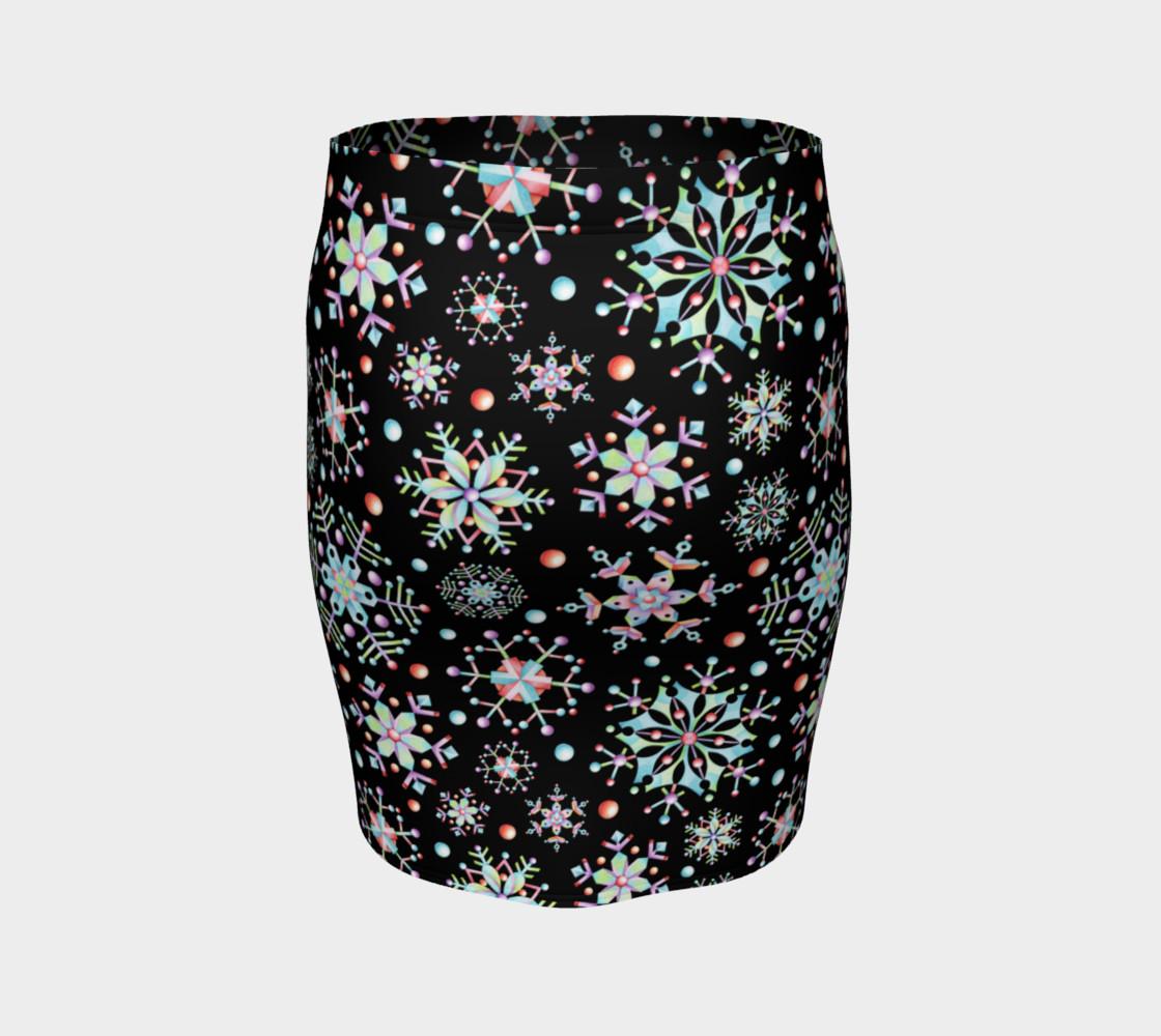 Aperçu de Prismatic Snowflakes Fitted Skirt #4