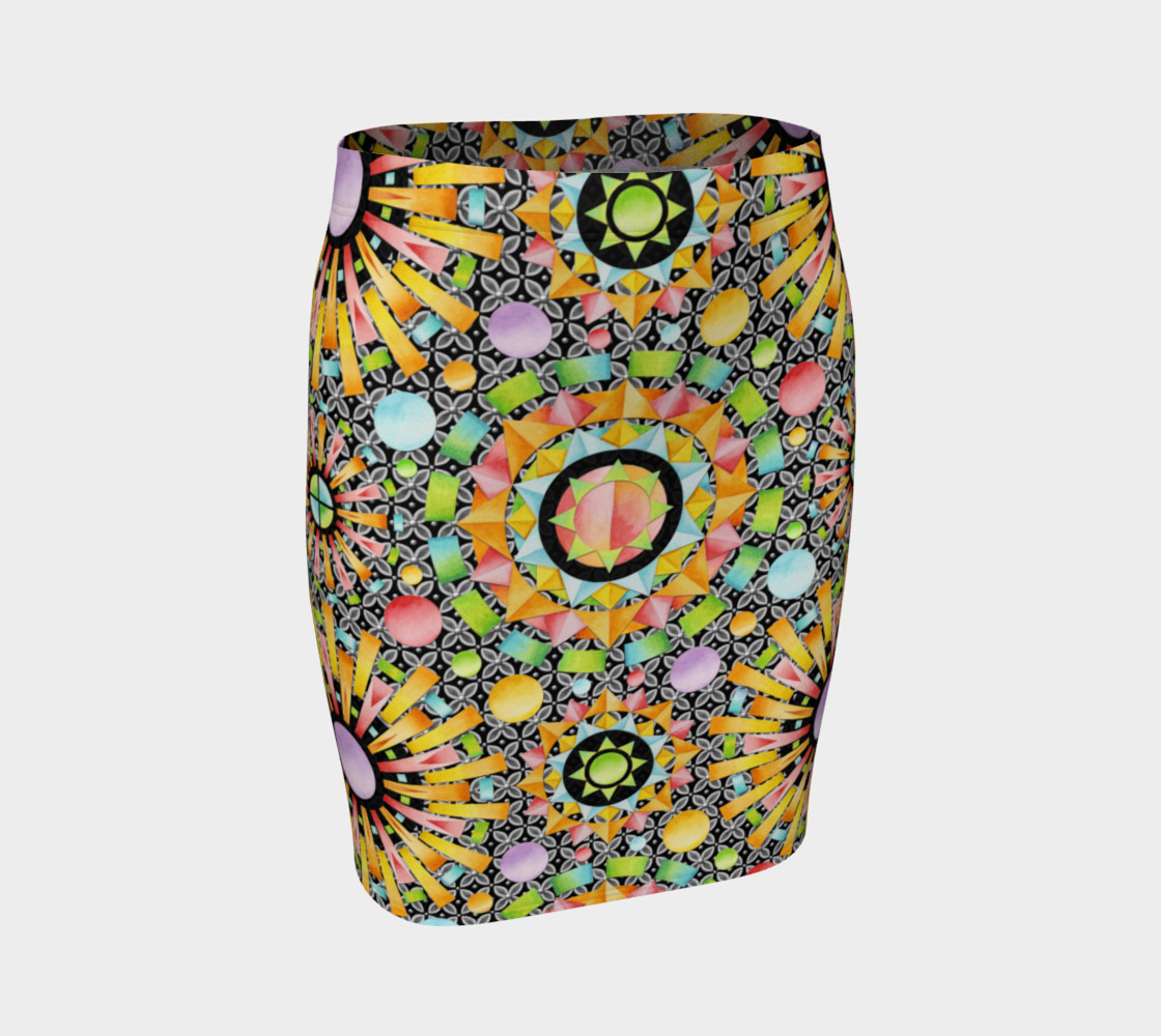 Aperçu de Aurora Geometric Fitted Skirt #1