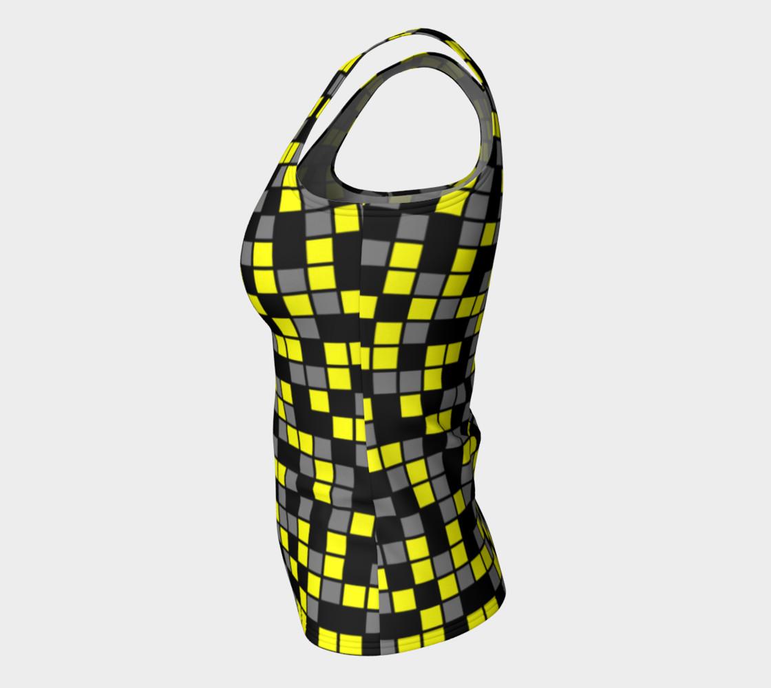 Aperçu de Yellow, Black, and Medium Grey Random Mosaic Squares #7