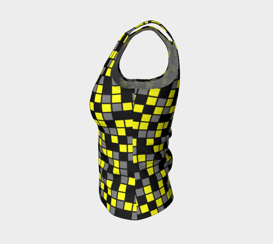 Aperçu de Yellow, Black, and Medium Grey Random Mosaic Squares #3