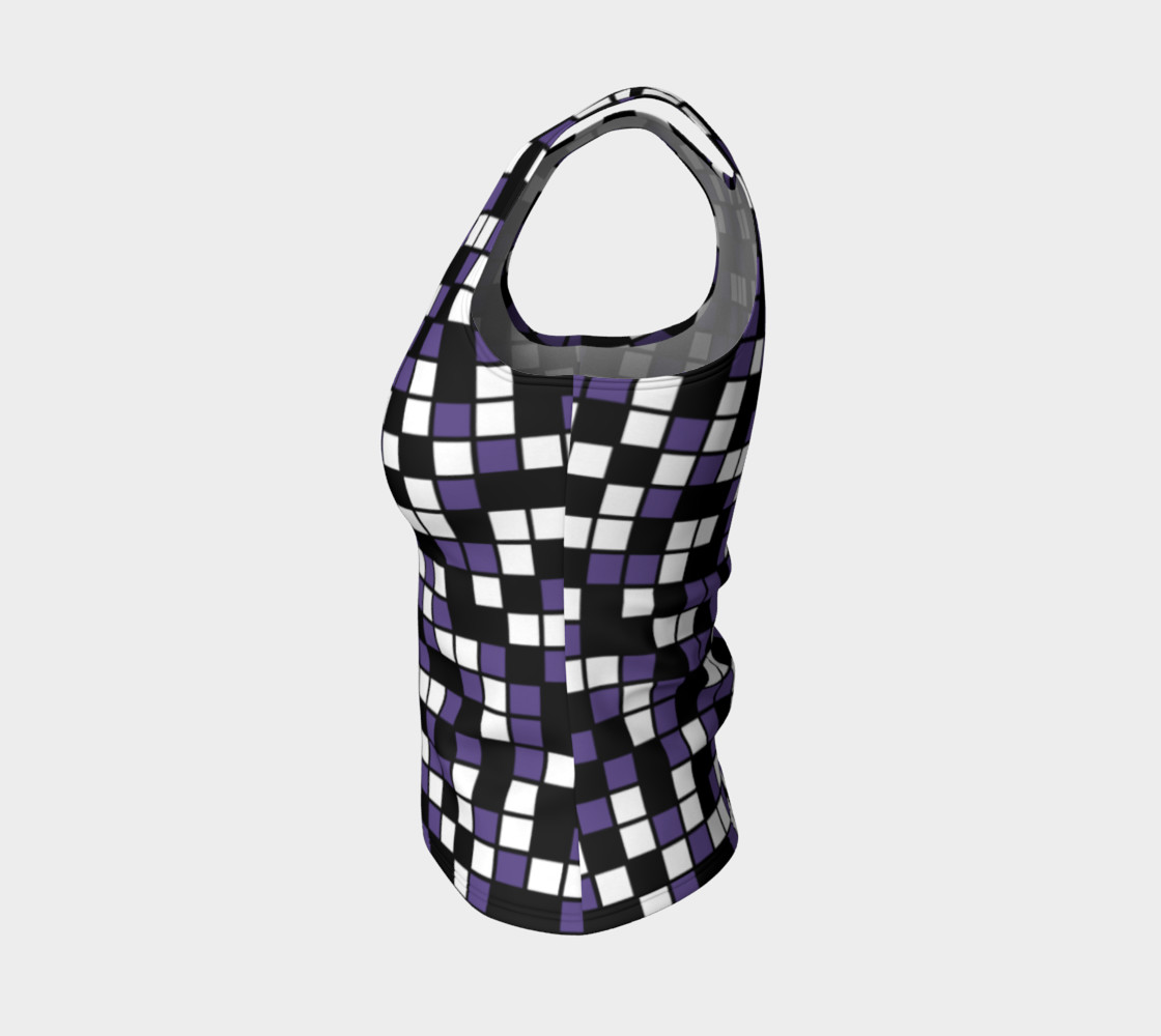 Ultra Violet Purple, Black, and White Random Mosaic Squares Miniature #4