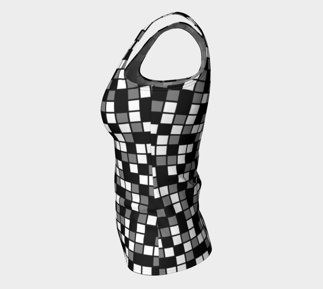 Aperçu de Grey, Black, and White Random Mosaic Squares #7