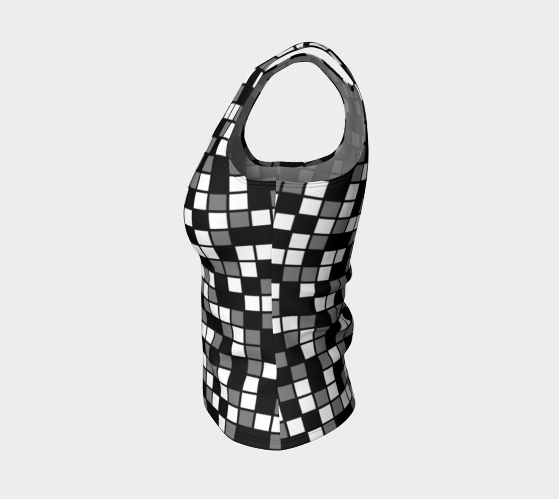 Aperçu de Grey, Black, and White Random Mosaic Squares #3