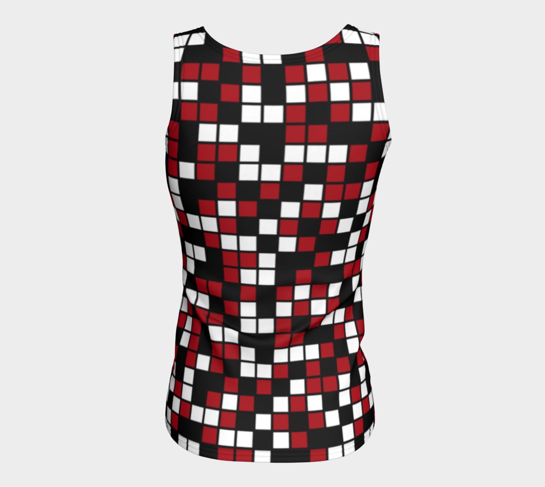 Aperçu de Dark Red, Black, and White Random Mosaic Squares #6