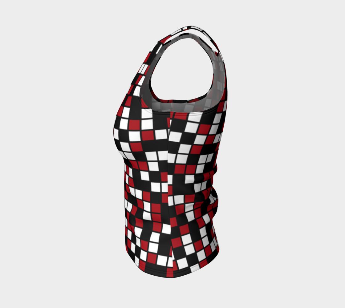 Aperçu de Dark Red, Black, and White Random Mosaic Squares #3