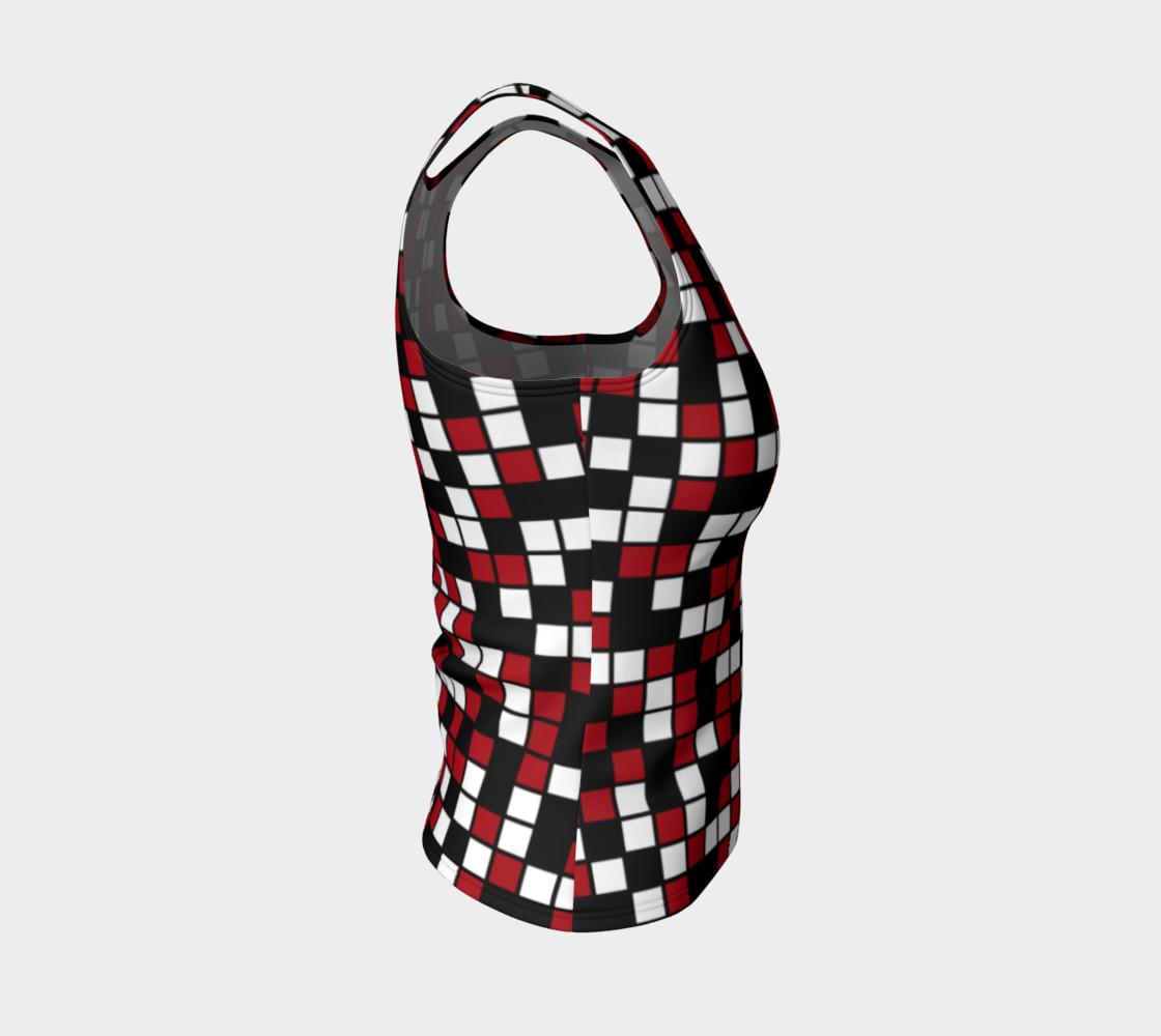 Aperçu de Dark Red, Black, and White Random Mosaic Squares #4