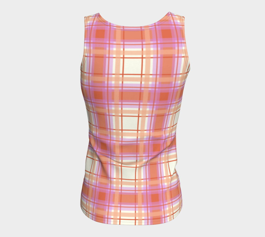 Plaid in Peach, Yellow and Pink preview #6