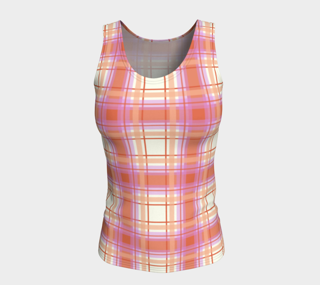 Plaid in Peach, Yellow and Pink preview #5