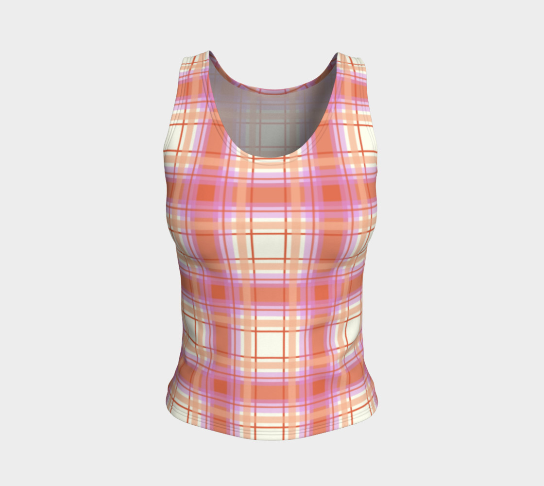 Plaid in Peach, Yellow and Pink preview #1