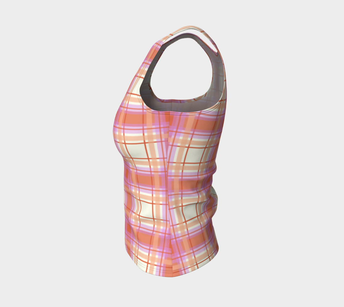 Plaid in Peach, Yellow and Pink preview #3
