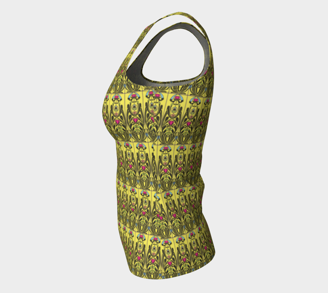 Yellow Nouveau Fitted Tank Top Miniature #8