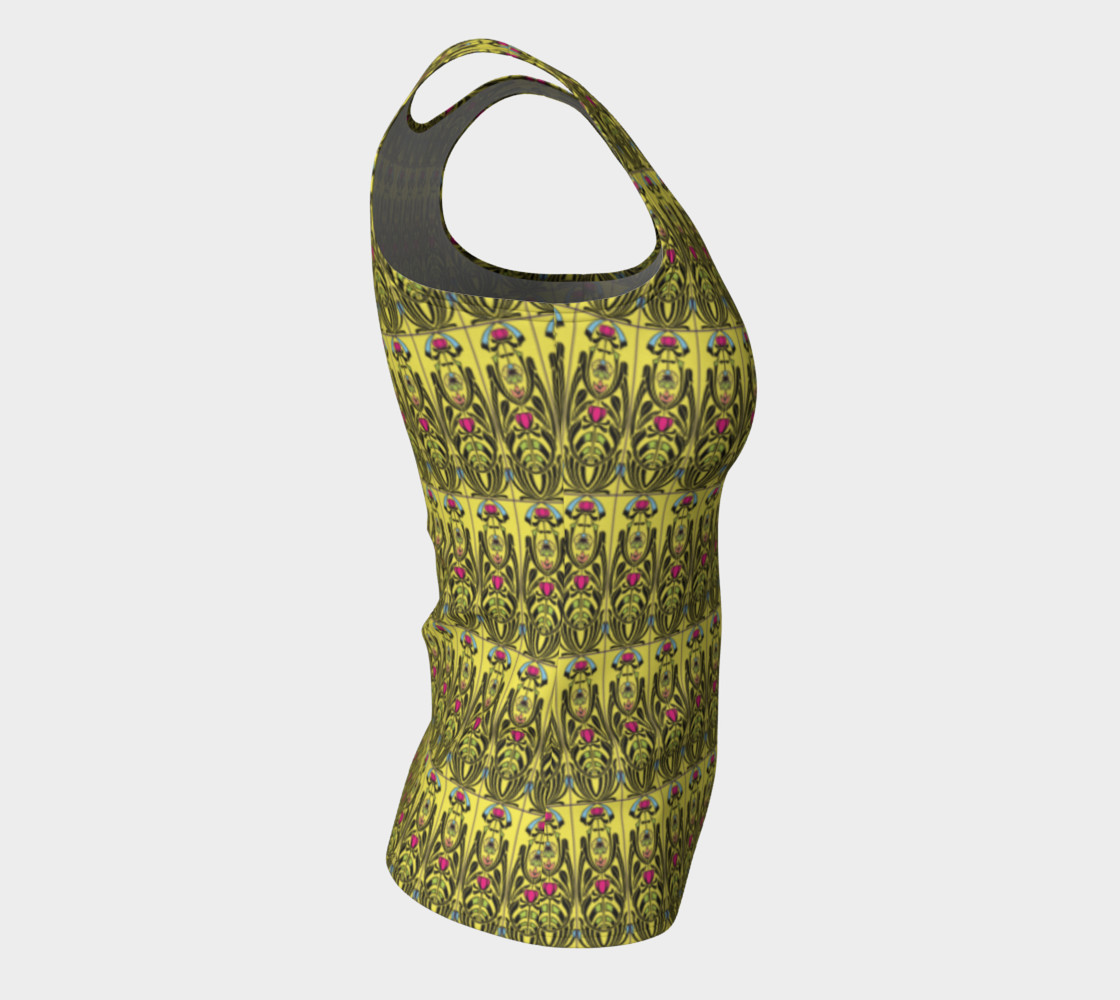 Yellow Nouveau Fitted Tank Top Miniature #9