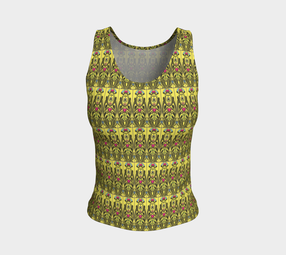 Yellow Nouveau Fitted Tank Top Miniature #2